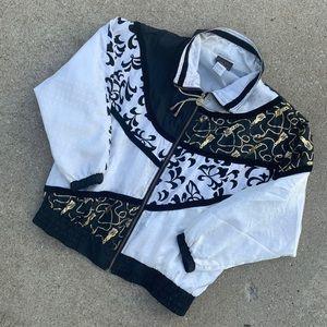 Vintage 80's Versace Like Windbreaker Jacket